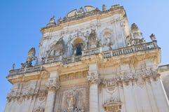Basilika-Kirche von St. Giovanni Battista. Lecce. Puglia. Italien. lizenzfreies stockbild