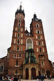 Basilika Krakow för St Mary ` s Royaltyfri Fotografi