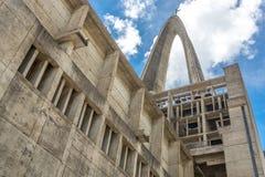 Basilika-La Altagracia Church in Higuey, Dominikanische Republik, Ansicht von hinten religiöse Architektur Lizenzfreie Stockfotos
