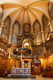 Basilika am Montserrat-Kloster nahe Barcelona Stockbild
