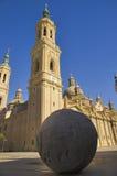 Basilika Pilla, Zaragoza, Spanien Arkivfoton