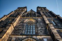 Basilika Prags Vysehrad von St Peter und von Paul lizenzfreies stockbild