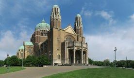 Basilika Sacre-Coeur - Basilika des heiligen Herzens - in Brüssel stockbilder