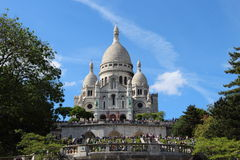 Basilika Sacre Coeur i Paris, Frankrike arkivfoto