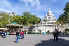 Basilika Sacre Coeur in Paris Stockfotografie