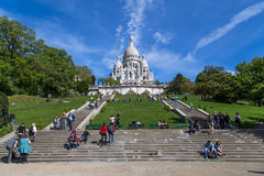 Basilika Sacre Coeur in Paris Stockfotos