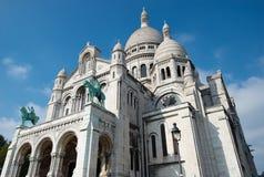 Basilika Sacre Couer bei Montmartre in Paris stockfoto