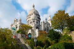Basilika Sacre Couer bei Montmartre in Paris lizenzfreie stockbilder