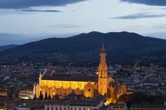 Basilika San Croce, Florenz, Italien lizenzfreies stockfoto