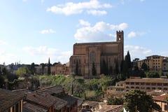 Basilika San Domenico i Siena - Italien Arkivfoton