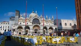 Basilika San-Marco in Venedig Stockfotografie
