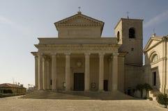 Basilika in San Marino Lizenzfreies Stockfoto
