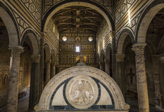 Basilika-San Miniato-Al Monte, Florenz, Italien Lizenzfreie Stockfotografie