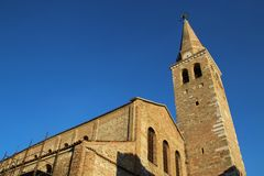 Basilika Santa Eufemia i Grado, Italien Arkivbild