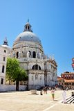 Basilika Santa Maria della Salute in Venedig, Italien Lizenzfreies Stockfoto