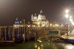 Basilika Santa Maria della Salute Venice Arkivfoton