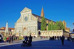 Basilika Santa Maria Novella Florence Italy Royaltyfri Fotografi