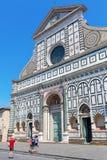 Basilika Santa Maria Novella i Florence, Italien Arkivfoton