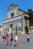 Basilika Santa Maria Novella i Florence, Italien Royaltyfri Fotografi