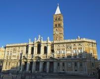 Basilika Santa- MariaMaggiore in Rom Stockbild