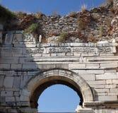 Basilika St John i Selcuk Turkey Arkivbild