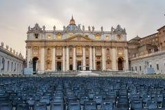 Basilika St Peter im Stadtstaat Vatikan, Rom, Italien Stockfotografie