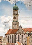 Basilika St. Ulrich in Augsburg Royalty Free Stock Photos
