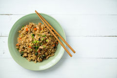basilika stekt rice arkivbilder