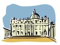 Basilika Str.-Peters, Rom Lizenzfreies Stockbild
