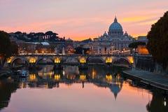 Basilika Str.-Peters, Rom stockbild
