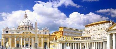 Basilika Str.-Peters, Vatikanstadt. Italien Stockbild