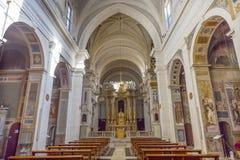 Basilika Trinita Dei Monti Spanish Steps Rome Italy Royaltyfri Bild