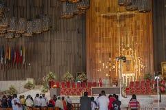 Basilika unserer Dame von Guadalupe in Mexiko City Stockbild