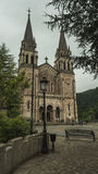Basilika von Covadonga, Asturien, Spanien Stockfotografie