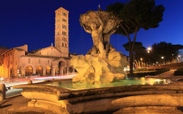 Basilika von Heiligem Mary in Cosmedin, Rom Lizenzfreie Stockfotos