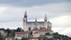 Basilika von Notre-Dame de Fourviere Lizenzfreie Stockfotografie
