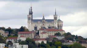 Basilika von Notre-Dame de Fourviere Lizenzfreie Stockfotos