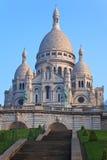 Basilika von Sacre-Coeur in Montmartre, Paris. Lizenzfreie Stockfotos