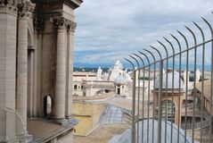 Basilika von San Pietro in der Stadt von Vatikan in Rom Lizenzfreie Stockbilder