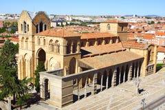 Basilika von San Vicente avila Stockbilder