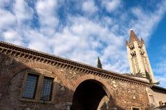 Basilika von San Zeno - Verona Italy Lizenzfreies Stockfoto