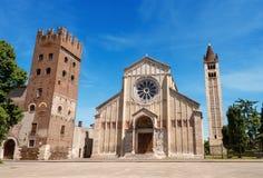 Basilika von San Zeno - Verona Italy Stockfotos