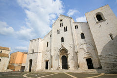 Basilika von Sankt Nikolaus in Bari, Puglia, Italien stockfoto
