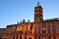 Basilika von Santa Maria Maggiore in Rom Lizenzfreies Stockfoto