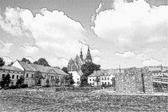 Basilika von St Andrew in Olkusz Stockfotos