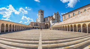 Basilika von St Francis von Assisi, Assisi, Umbrien, Italien Lizenzfreie Stockfotos