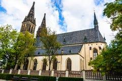 Basilika von St Peter und von St Paul in Prag, Tschechische Republik lizenzfreie stockfotografie