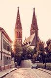 Basilika von St Peter und von Saint Paul, Vysehrad, Prag, alte FI Stockfotografie