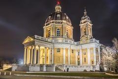 Basilika von Superga lizenzfreies stockfoto