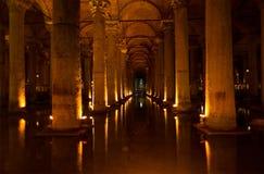 Basilika-Zisterne in Istanbul stockfotografie